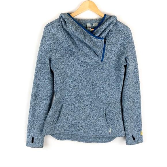 Sweatwater Men Hooded Sport Casual Knitted Zipper Sweatshirt Coat Jacket